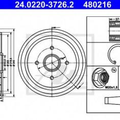 Tambur frana FORD IKON V 1.4 16V - ATE 24.0220-3726.2 - Saboti frana auto