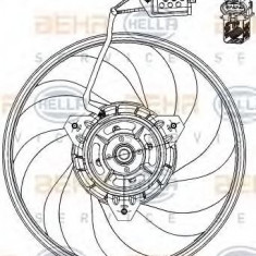 Ventilator, aer conditionat OPEL VITA C 1.7 DTI - HELLA 8EW 351 039-691 - Radiator aer conditionat