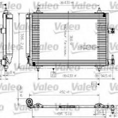 Condensator, climatizare CITROËN C5 I 1.8 16V - VALEO 817464 - Radiator aer conditionat