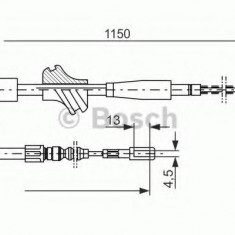 Cablu, frana de parcare AUDI 4000 1.3 - BOSCH 1 987 477 194