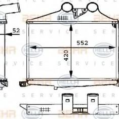 Intercooler, compresor MERCEDES-BENZ LK/LN2 711 - HELLA 8ML 376 723-691 - Intercooler turbo