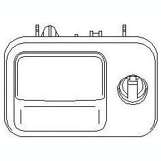 Incuietoare torpedou VW GOLF Mk III 1.9 D - TOPRAN 109 077 - Incuietoare interior - exterior