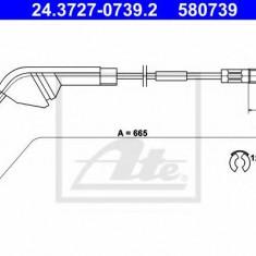 Cablu, frana de parcare OPEL VECTRA A hatchback 2.0 - ATE 24.3727-0739.2