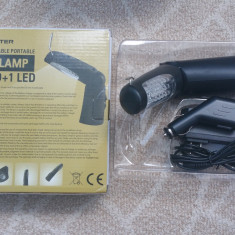Lampa portabila atelier auto 21+5 LED, se poate agata / prindere magnetica - Lampa cu LED Service