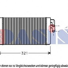 Schimbator caldura, incalzire habitaclu AUDI 100 limuzina 1.9 - AKS DASIS 489040N - Grila KLOKKERHOLM