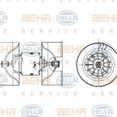 Ventilator, habitaclu BMW 3 limuzina 316 i - HELLA 8EW 009 100-531