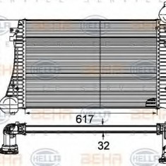 Intercooler, compresor VW PASSAT limuzina 1.9 TDI - HELLA 8ML 376 746-131 - Intercooler turbo