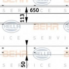 Intercooler, compresor VOLVO S40 II limuzina T5 - HELLA 8ML 376 729-541 - Intercooler turbo