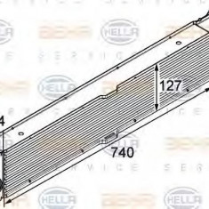 Intercooler, compresor FIAT DUCATO caroserie 140 Natural Power - HELLA 8ML 376 746-021 - Intercooler turbo