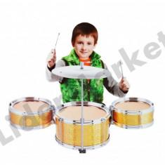Set de tobe cu scaunel pentru copii - Instrumente muzicale copii
