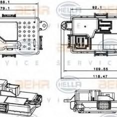 Reglaj, suflanta de interior MERCEDES-BENZ CLS CLS 350 - HELLA 5HL 351 321-651 - Motor Ventilator Incalzire