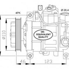 Compresor, climatizare AUDI A6 limuzina 2.5 TDI - NRF 32105 - Compresoare aer conditionat auto