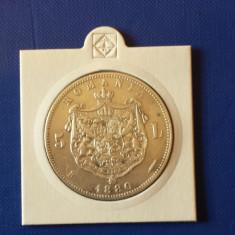 Romania 5 lei 1880 argint