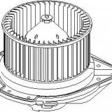 Electromotor, ventilatie interioara AUDI 4000 1.6 - TOPRAN 108 631