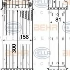 Intercooler, compresor PEUGEOT 207 1.6 16V Turbo - BEHR HELLA SERVICE 8ML 376 756-741 - Intercooler turbo