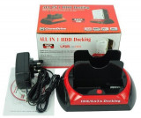 RACK extern HDD CDROM Docking Station2 x HDD, IDE,SATA prinUSB Lichidare Stoc