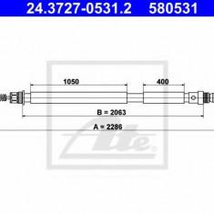 Cablu, frana de parcare PEUGEOT 806 2.0 - ATE 24.3727-0531.2