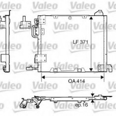 Condensator, climatizare OPEL ASTRA G limuzina 2.0 DI - VALEO 817506 - Radiator aer conditionat