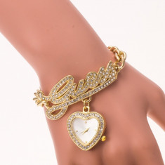 Ceas Dama Guess Glamour Gold, Casual, Otel, Analog