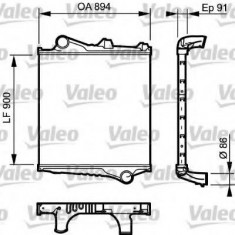 Intercooler, compresor VOLVO FH 12 FH 12/380 - VALEO 817774 - Intercooler turbo