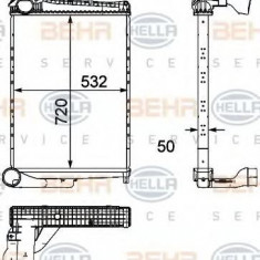 Intercooler, compresor RENAULT TRUCKS Midlum 240.12 - HELLA 8ML 376 746-381 - Intercooler turbo