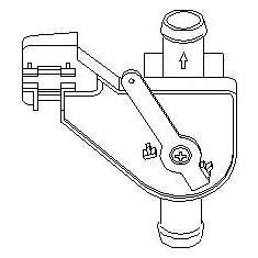 Supapa control, agent frigorific AUDI 4000 1.3 - TOPRAN 102 654 - Supapa Control Incalzire