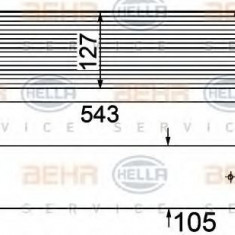 Intercooler, compresor BMW 7 limuzina 730 d - HELLA 8ML 376 746-501 - Intercooler turbo