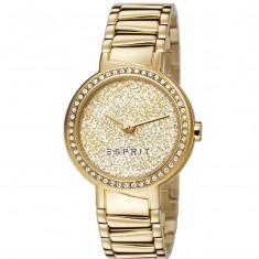 Ceas Esprit ES107642003, dama placat cu aur si pietre zirconia - Ceas dama Esprit, Elegant, Quartz, Data