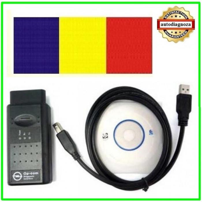 Interfata diagnoza tester auto OP.COM Opel  ~ lb.  ROMANA 2010 si ENGLEZA  2014 foto mare