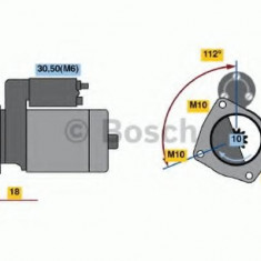Starter - BOSCH 0 001 107 501 - Electromotor