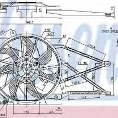 Ventilator, radiator OPEL ASTRA G hatchback 1.6 - NISSENS 85185 - Electroventilator auto