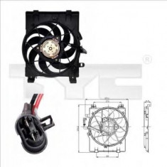 Ventilator, radiator OPEL VITA C 1.0 - TYC 825-0001 - Electroventilator auto