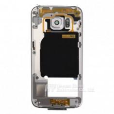 Rama carcasa mijloc Samsung Galaxy S6 Edge G925 alb/gold