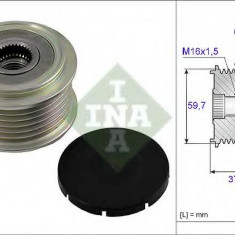 Sistem roata libera, generator MAZDA MPV Mk II 2.5 V6 - INA 535 0017 10 - Fulie