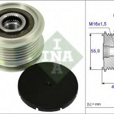 Sistem roata libera, generator VW PASSAT 1.6 TDI - INA 535 0012 10 - Fulie
