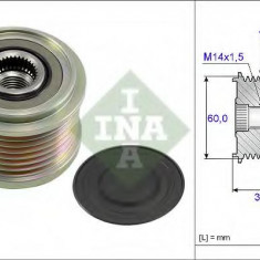 Sistem roata libera, generator KIA SORENTO I 2.5 CRDi - INA 535 0215 10 - Fulie