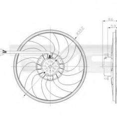 Ventilator, radiator SKODA FABIA 1.9 SDI - TYC 837-0037 - Electroventilator auto