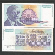 IUGOSLAVIA 500000000 500.000.000 DINARI 1993 XF+++ a UNC [2] P-134a - bancnota europa