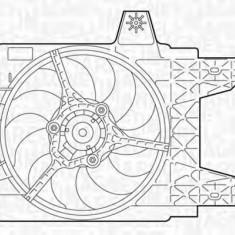 Ventilator, radiator FIAT PUNTO 55 1.1 - MAGNETI MARELLI 069402281010 - Ventilatoare auto