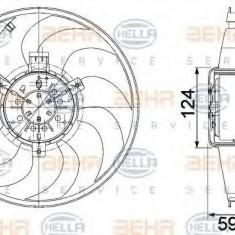 Ventilator, radiator MERCEDES-BENZ VIANO CDI 2.2 - HELLA 8EW 351 041-261 - Ventilatoare auto LuK