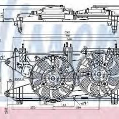 Ventilator, radiator FIAT DOBLO Cargo 1.3 JTD 16V Multijet - NISSENS 85689 - Ventilatoare auto