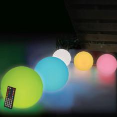 Glob cu LED-uri multicolore reincarcabil, 35 cm
