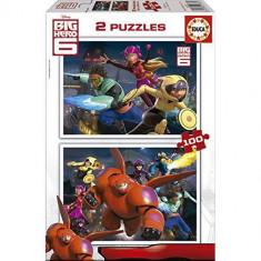 Puzzle Educa Big Hero 6 - 2 X 100 Piese