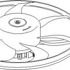 Ventilator, radiator AUDI A3 1.6 - TOPRAN 111 282 - Electroventilator auto