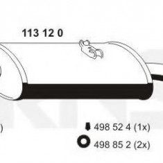Toba esapament finala VW CARAT 1.6 - ERNST 113120 - Toba finala auto