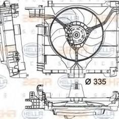 Ventilator, radiator SMART FORTWO cupe electric drive - HELLA 8EW 351 041-181 - Ventilatoare auto LuK