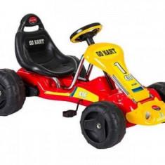 Kart pedale 9788A galben - Kart cu pedale