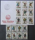 SAN MARINO - PICTURA, 8 VALORI NEOBLITERATE SI 1 FDC OBLITERAT - SM 059, Nestampilat