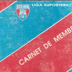 """Carnet de membru (1994-1997) -fotbal - """"Liga Suporterilor""""STEAUA BUCURESTI"""