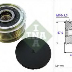 Sistem roata libera, generator HYUNDAI ELANTRA GT 1.4 CRDi - INA 535 0187 10 - Fulie